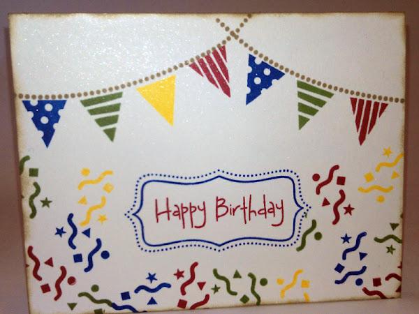 One Layer Birthday Card