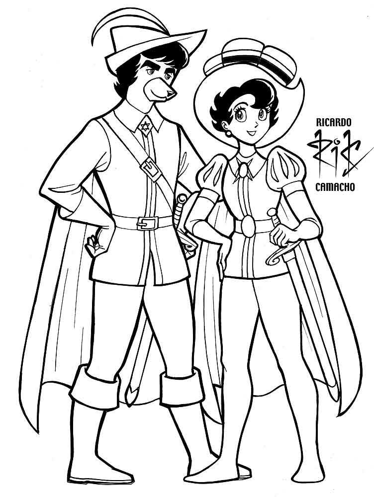 3 Caballeros Coloring Pages