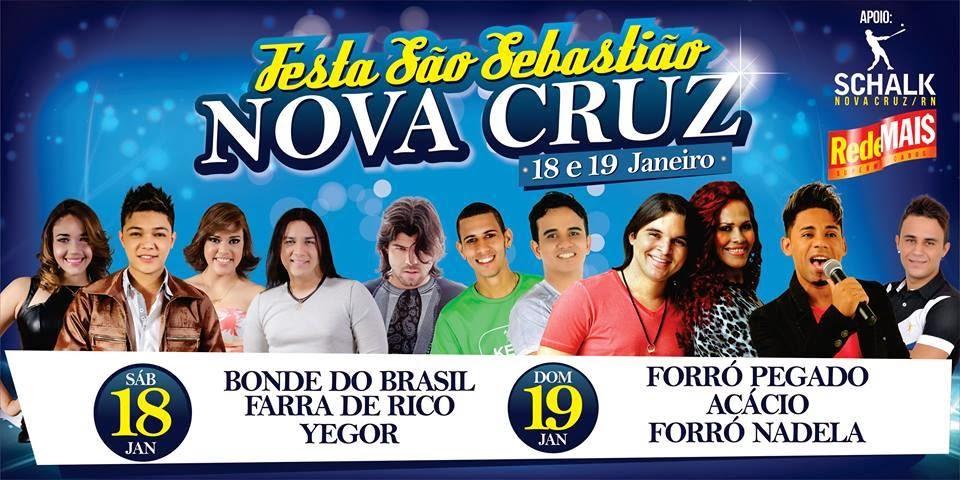 Festa de São Sebastião 2014  em Nova Cruz/RN, 18  e 19 de janeiro