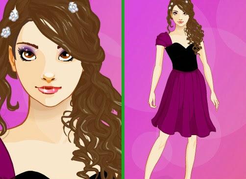 Kelsey vestida para um encontro