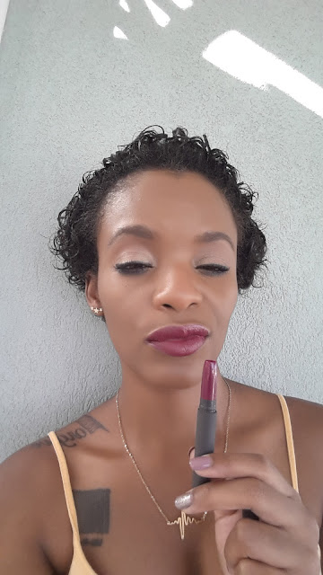 Bite Beauty Matte Creme Lip Crayon 'Aubergine' swatched www.modenmakeup.com