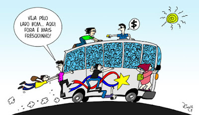 Charge: transporte coletivo