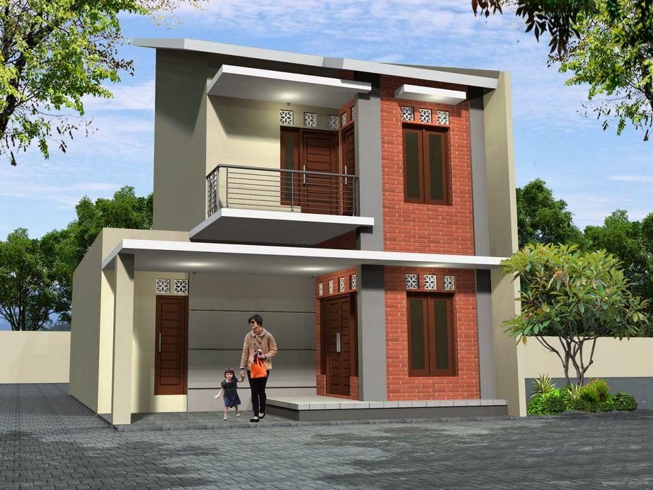 fasad rumah minimalis tingkat dua dari depan