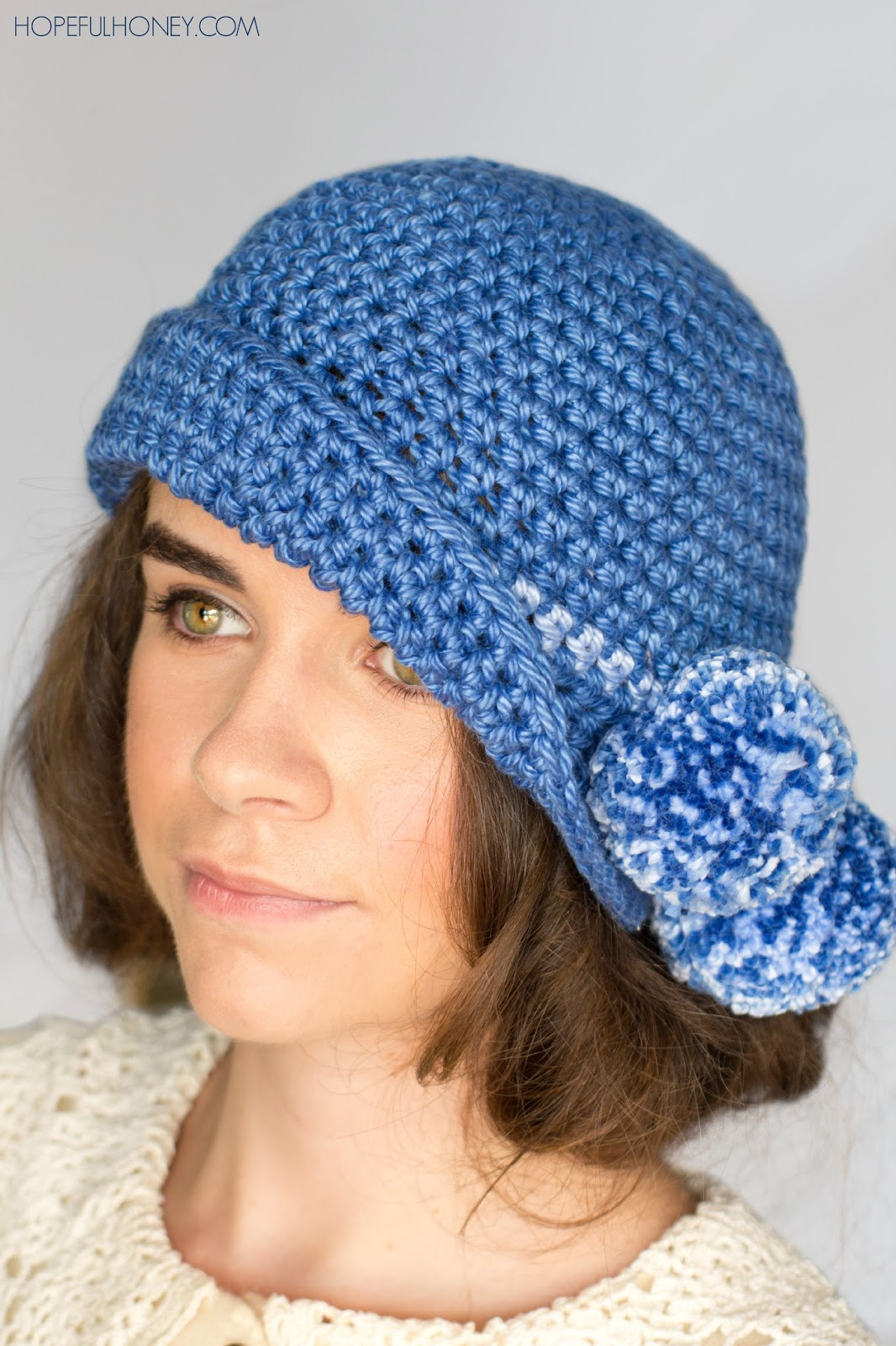 Crochet Hat Pattern Cloche : Hopeful Honey Craft, Crochet, Create: 1920s Pompom ...