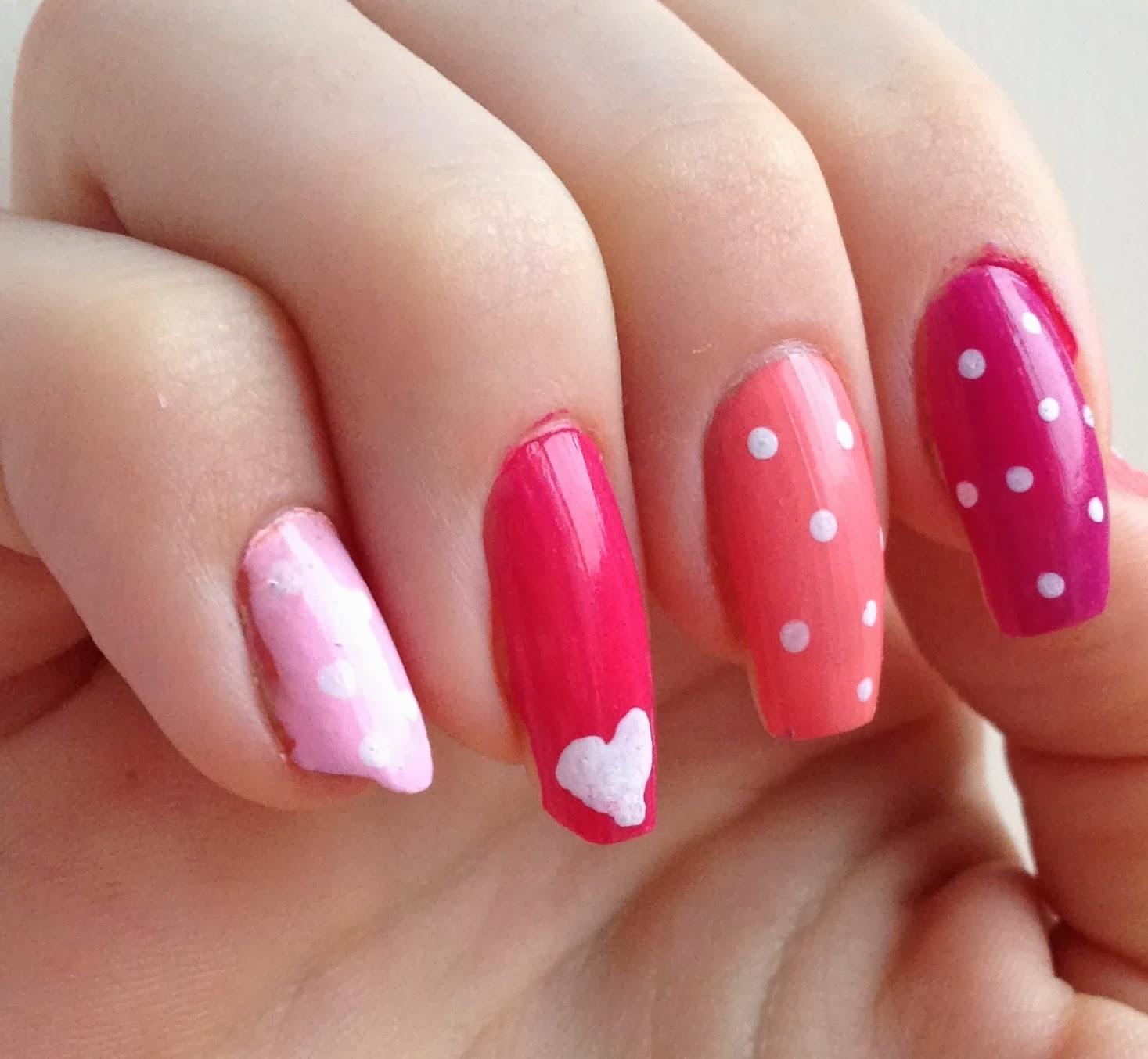 valentines-nails-pink
