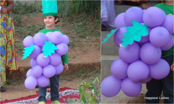 school fancy dress grapes