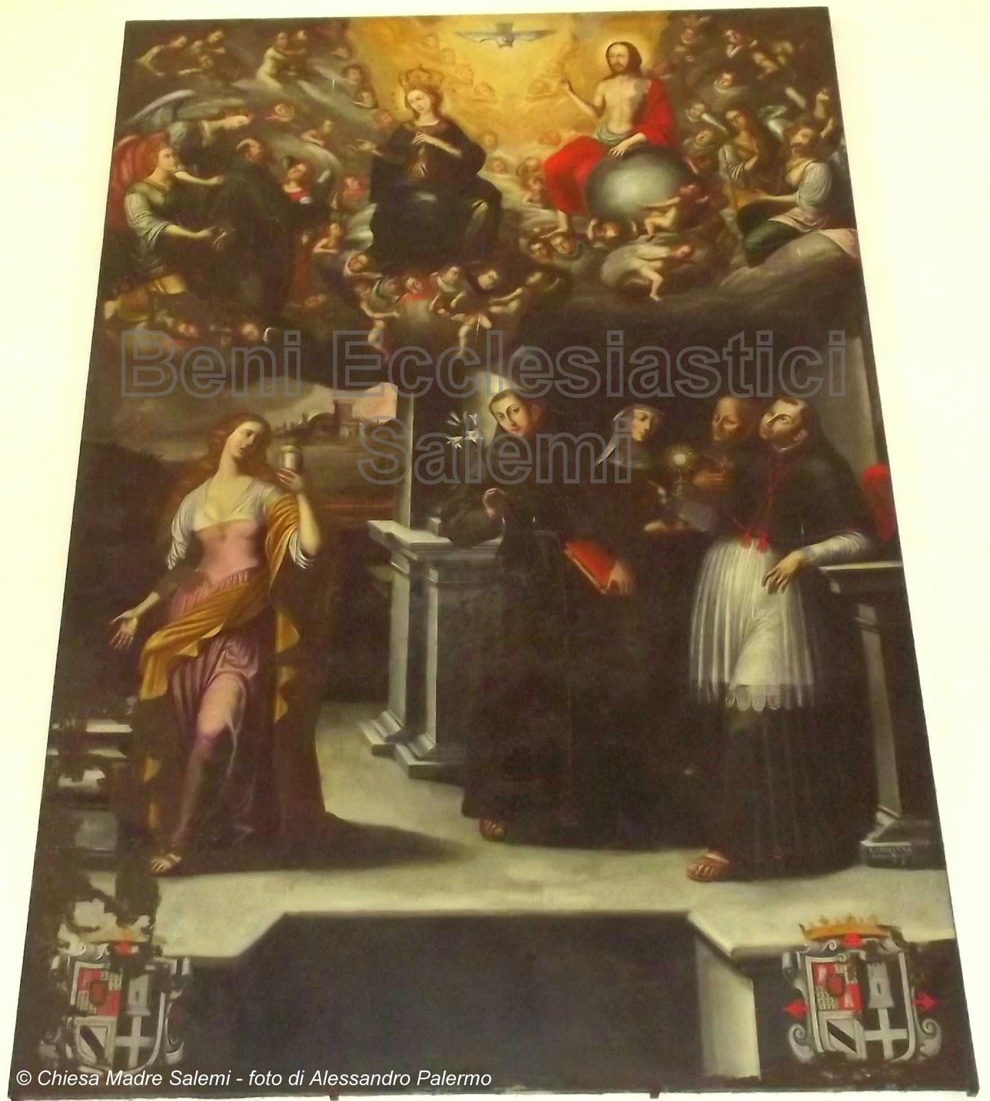 XVII 1600 1649 collocata nell altare maggiore della Chiesa della Madonna degli Angeli detta del SS Crocifisso Attribuita all artista palermitano