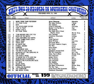 KHJ Boss 30 No. 199 - April 23, 1969
