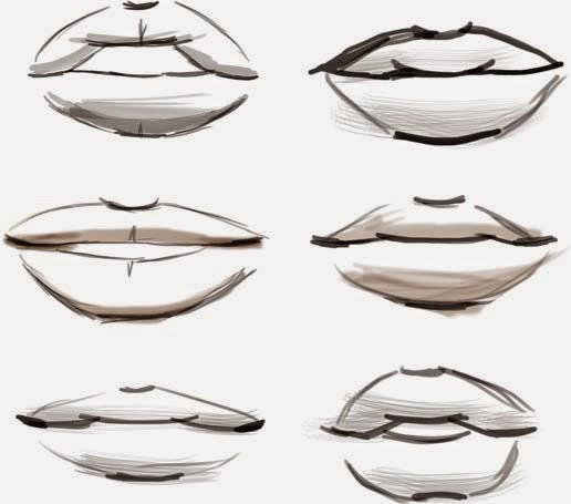 fashion illustrations eyes amp lips