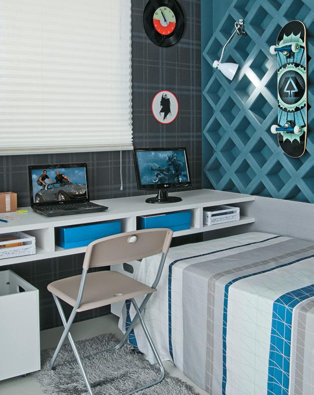 decoracao de interiores quartos de solteiro : decoracao de interiores quartos de solteiro:La Casa – Blog de Decoração: Quarto para um jovem solteiro.