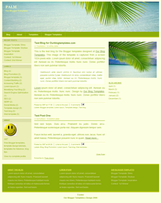 palm simple ads ready blogger template 2014 for blogger or blogspot,simple blogger template 2014,ads ready blogger template 2014 2015,download blogger template 2014 2015,green white blogger template