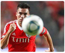 Jogador do Benfica, Nicolas Gaitan