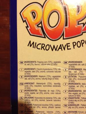 microwave popcorn ingredients