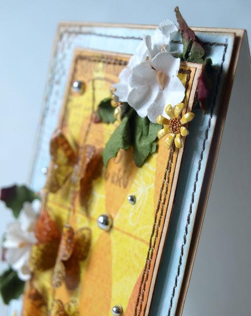 Butterflies - handmade card by Evik_ _ motyle_mikrokulki