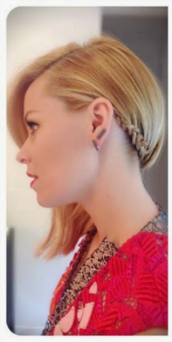 Elizabeth Banks Edgy Braided Hair From The 2014 Amas My Little