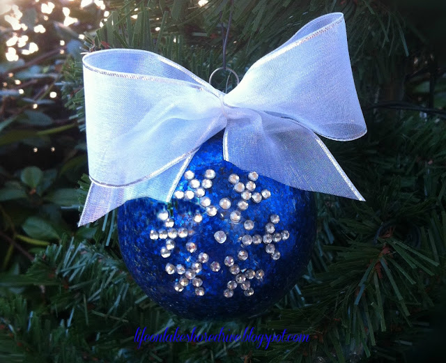 DIY Christmas ornament tutorial snowflake