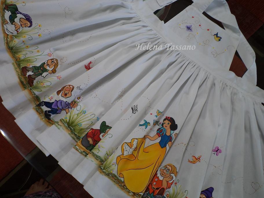 Armario De Parede Pequeno ~ Helena Tassano Artesanato, Pintura em Tecido, Aulas de Pintura, Pintura sobre Tela Vestido infantil