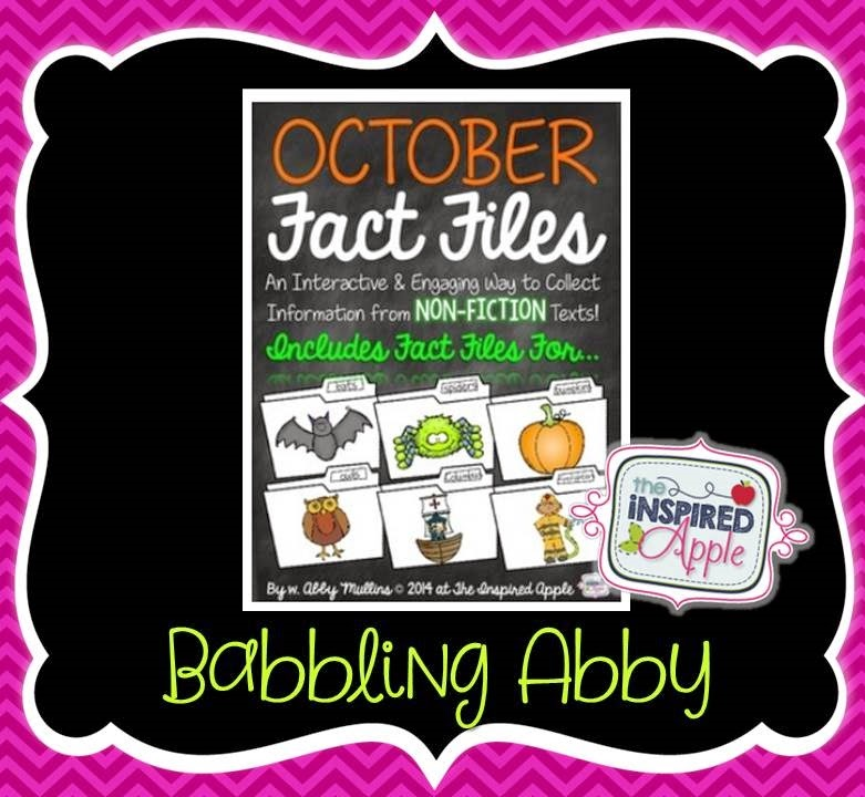 http://www.teacherspayteachers.com/Product/October-Fact-Files-Collecting-Information-from-Nonfiction-Text-1487747