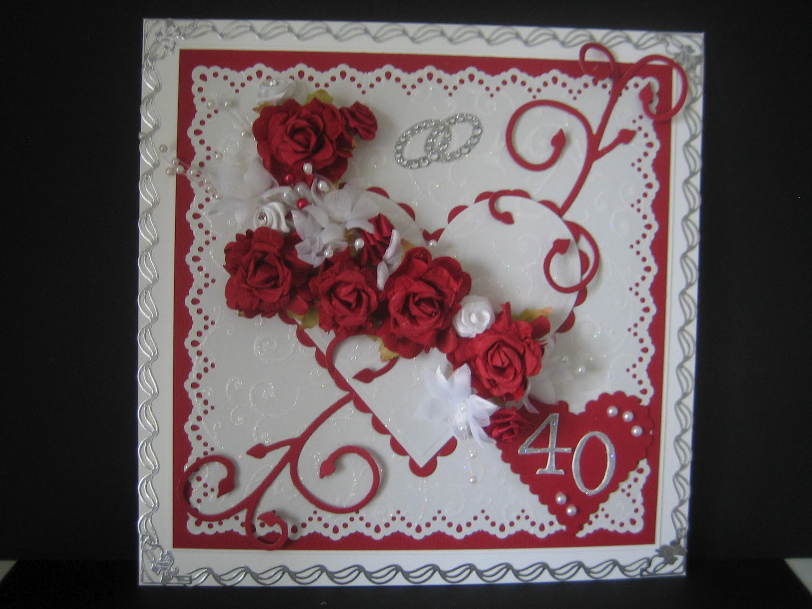 Pixie\'s Crafty Workshop: Ruby Wedding Card