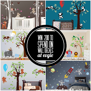 Enter the Evgie Wall Decals Giveaway. Ends 8/17