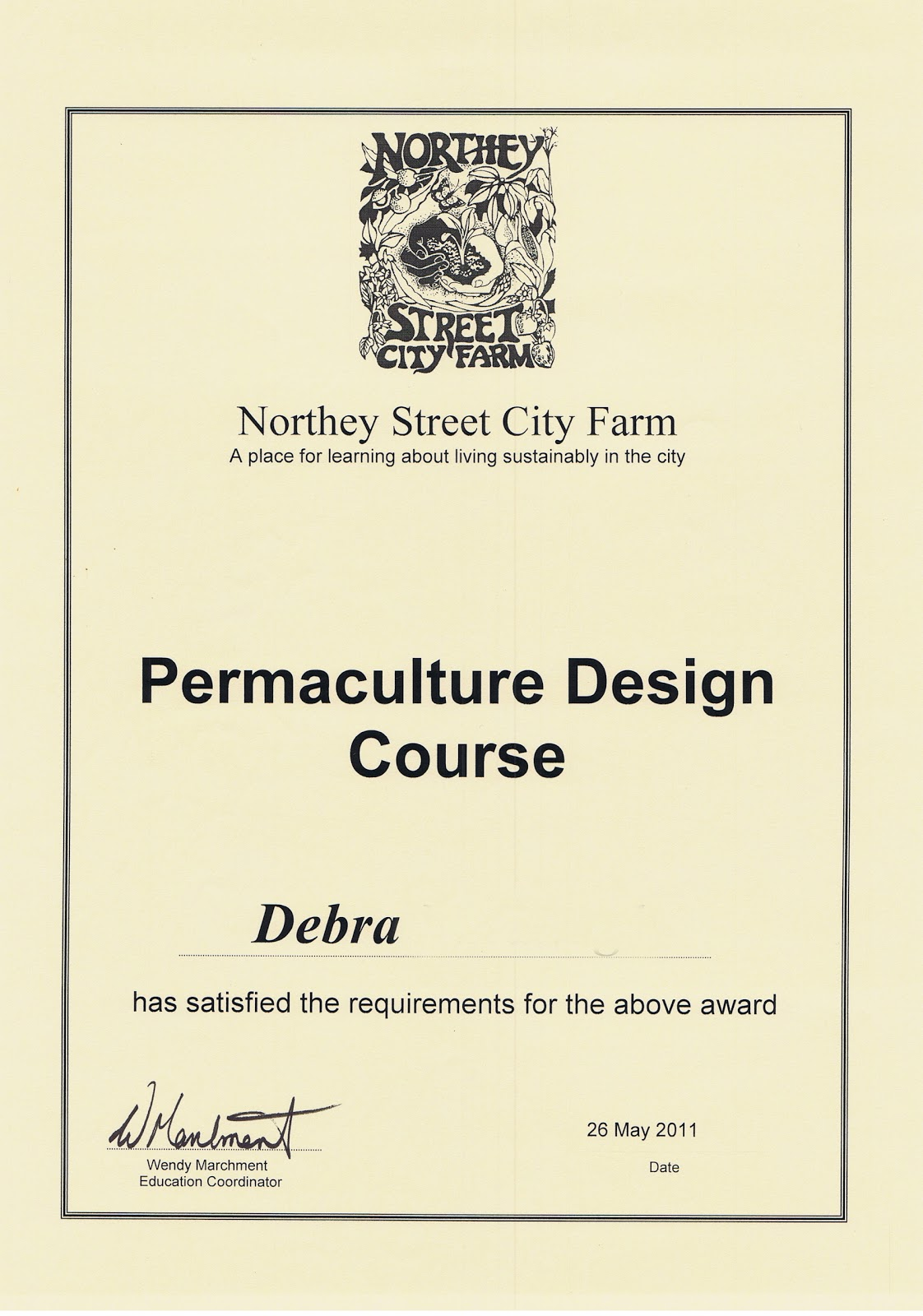 Deb\'s Daily Journal: Permaculture Design Certificate - Done!