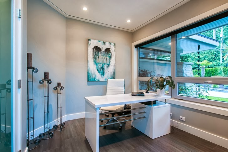 Home office in Contemporary home by Trevor Euley in Canada