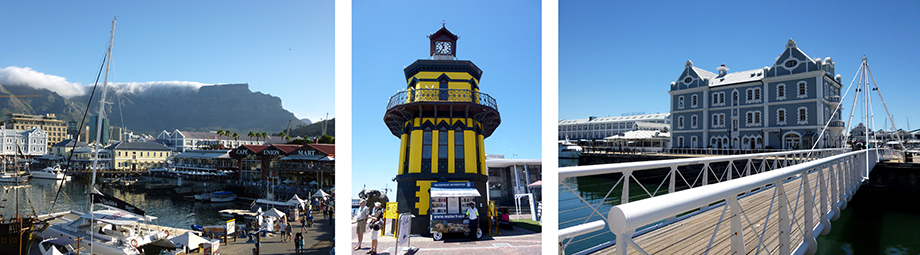 Ynas Reise Blog | Südafrika - Waterfront mit gelbem Clocktower | Capitaldesignworld 2014