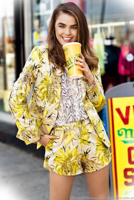 Moda primavera verano 2014. Uma trajes de mujer 2014.
