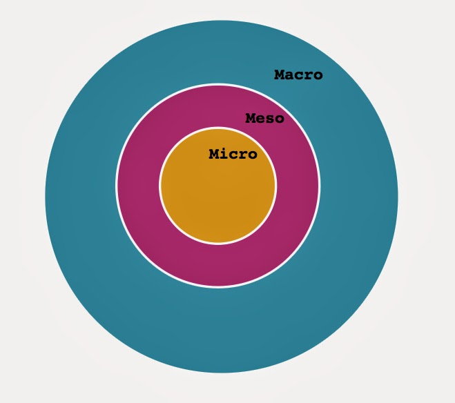 micro mezzo and macro interactions The case of market interaction, macroeconomic aggregates or interpersonal   economics, since different interpretations of the micro-macro link have been  attributed  level analysis, others emphasize the necessity to focus the meso- level as a.