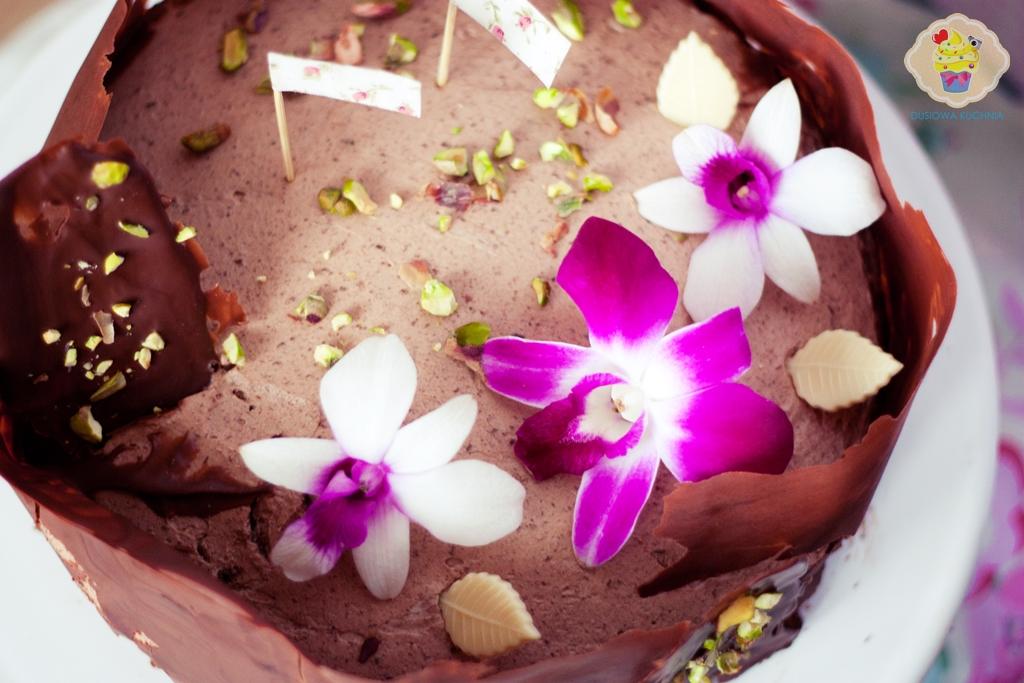 tort czekoladowy z rantem, tort czekoladowy