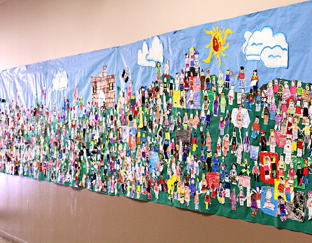 Smart class lego group whole school mural for Community mural ideas