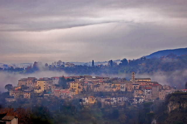 Photo of the medieval village of Tarano, Sabina, Italy