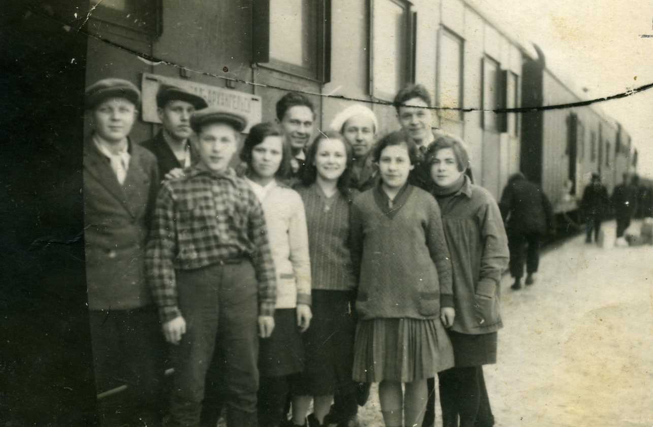 В ленинград во время зимних каникул в