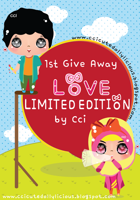 1ST GIVEAWAY LOVE LIMITED EDITION BY CCI