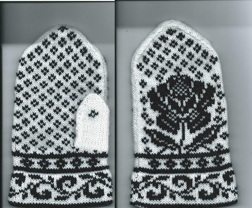 Knitting Pattern For Norwegian Mittens : Marzipanknits: Machine Knit Norwegian Mitten Quest