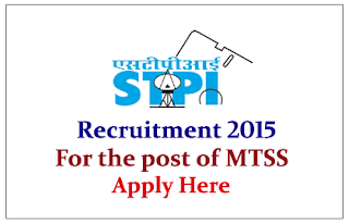 Software Technology Parks of India Recruitment 2015 for the post of Member Technical Support Staff