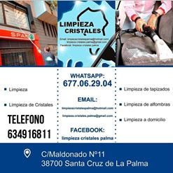 LIMPIEZA DE CRISTALES LA PALMA