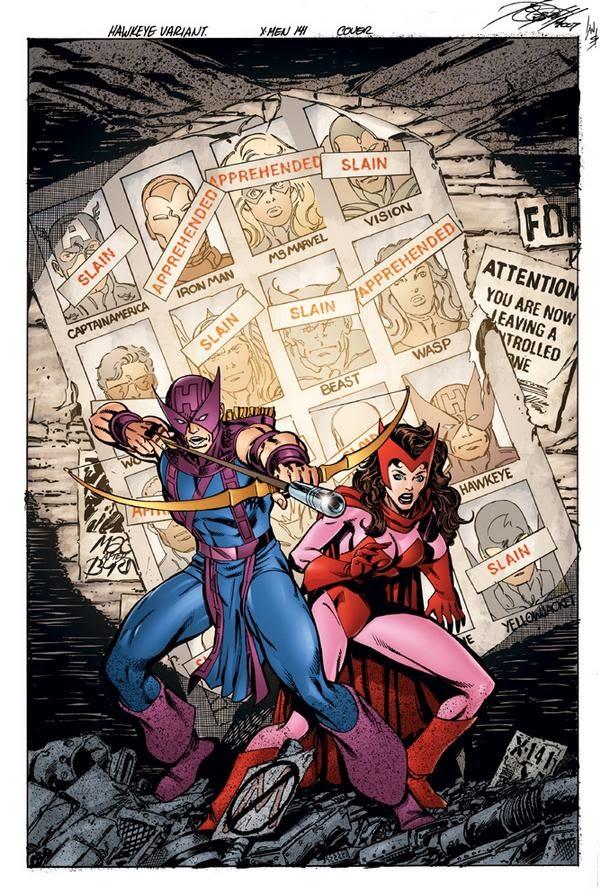 Ojo de Halcón Homenaje Uncanny X-Men 141