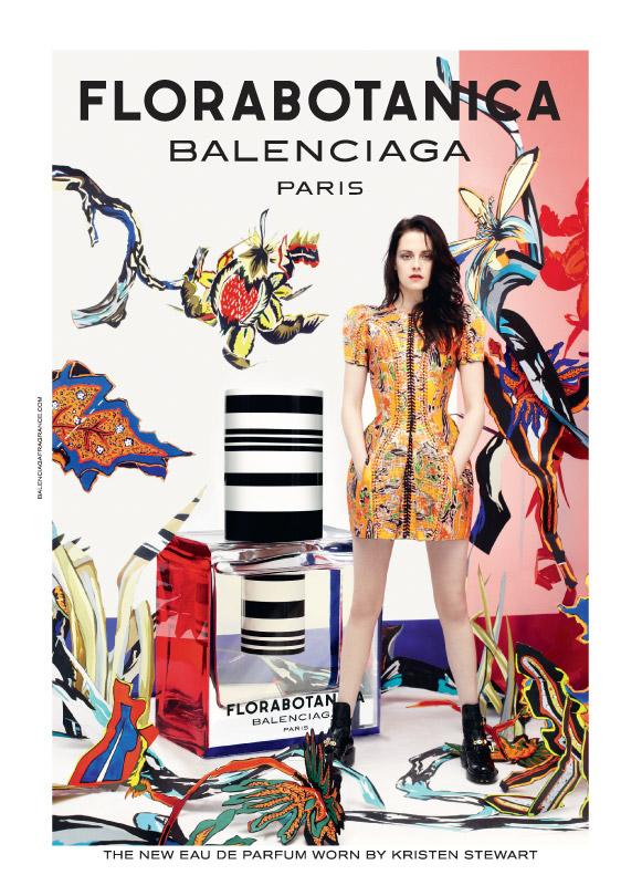 Kristen Stweart the face of Balenciaga Florabotanica