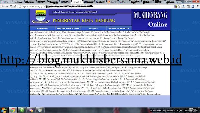 Situs Bappeda Bandung Rentan Serangan LFI ( Local File Inclusion )