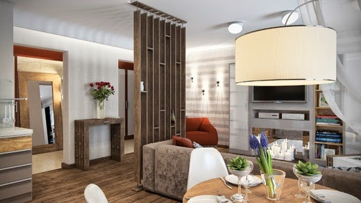 Private small interior design for living room - Kitchen layout for small space decoration ...
