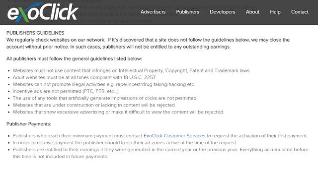 ExoClick, Josh Wieder, publisher guidelines
