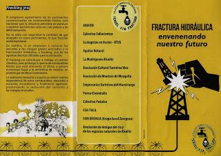 Panfleto Teruel sin Fractura Fracking No Zaragoza