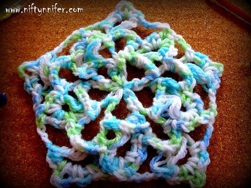 Niftynnifers Crochet Crafts Free Crochet Pattern Flower Pentagon