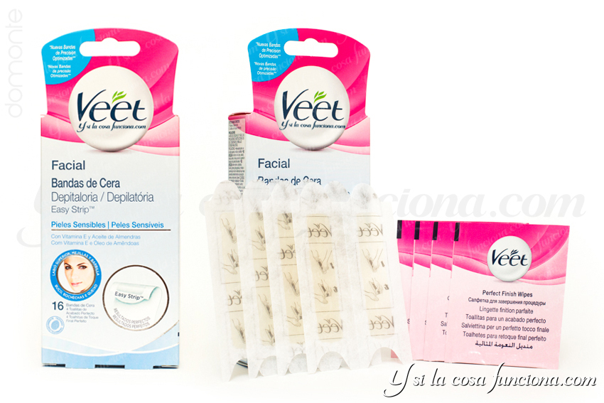 Producto Bandas cera facial Easy Strip Veet Pieles Sensibles