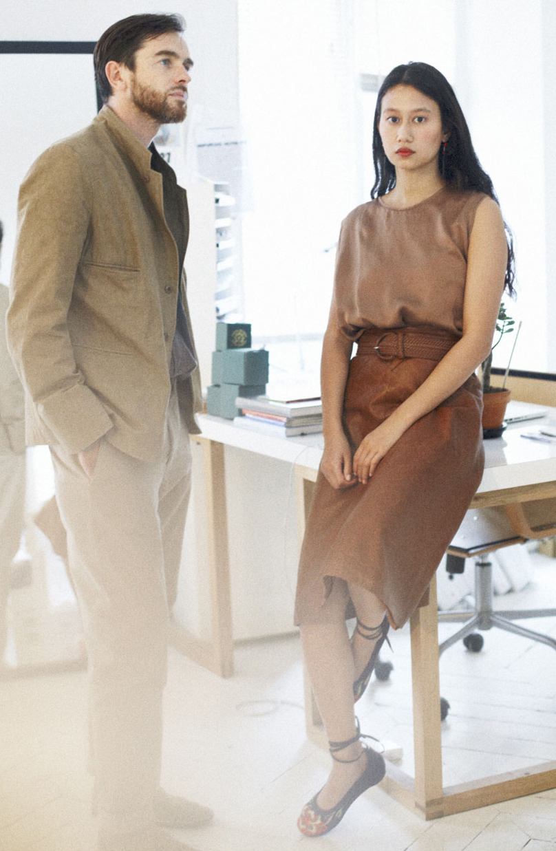 Christophe Lemaire & Sarah-Linh Tran of Lemaire / Uniqlo collaboration