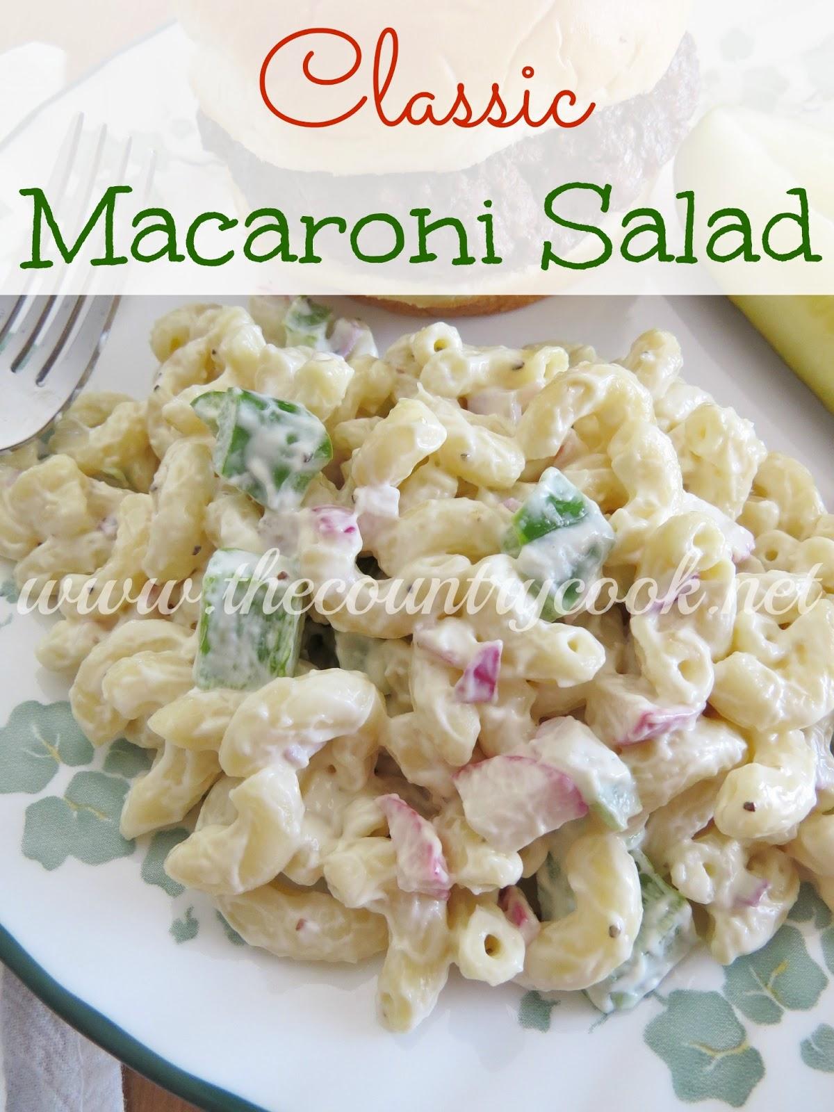 The Country Cook Mom 39 S Macaroni Salad