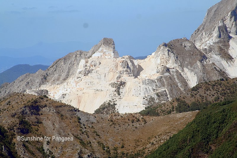 Carrara marble mountains.