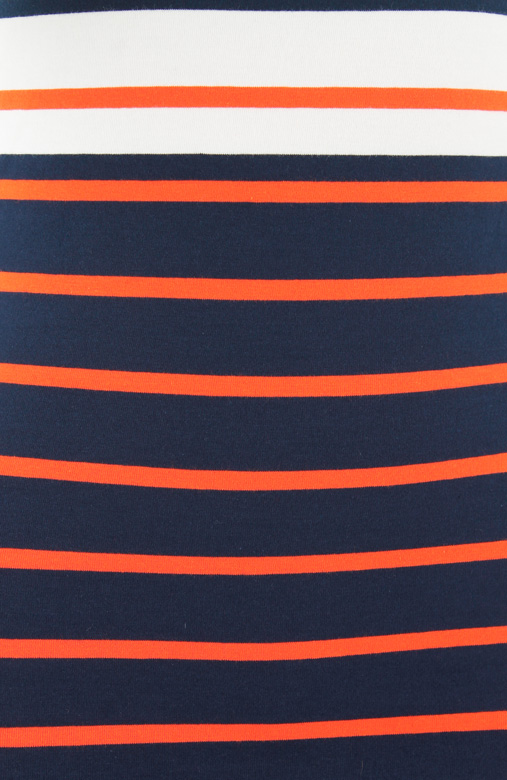 Nautical Chic Stripe Mini Dress - Tangerine