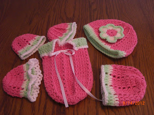 Cuddle Sac and Hats for Preemie